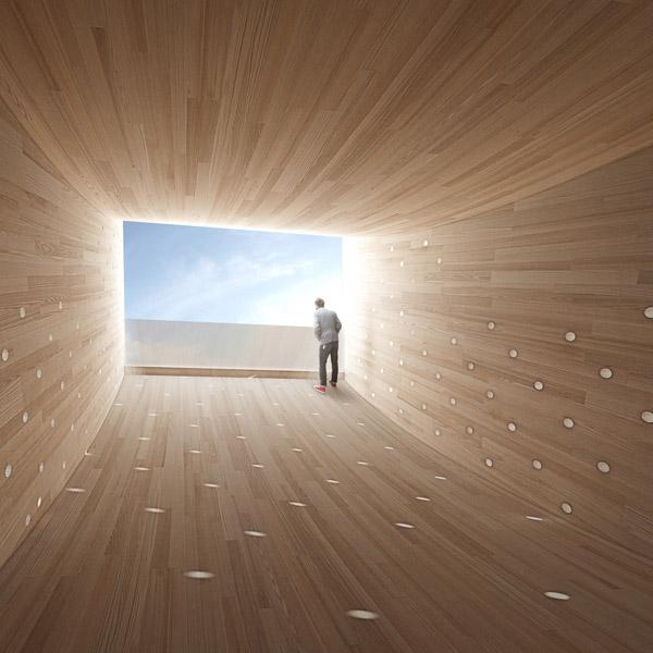 """""""The Smile"""", realizzato dall'architetto Alison Brooks per il London Design Festival"""