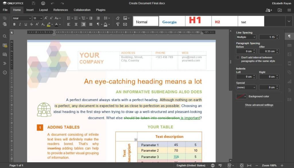 ONLYOFFICE Docs 6.3 – nuovi aggiornamenti per gli utenti